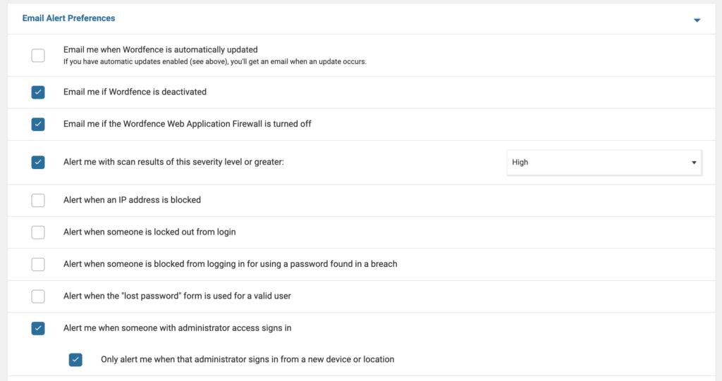 הגדרה של Wordfence - שלב ד׳