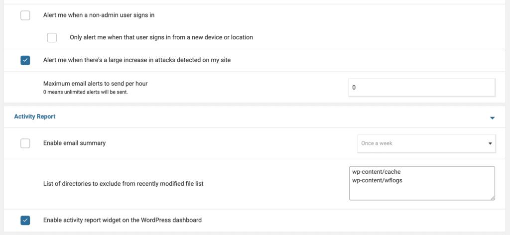 הגדרה של Wordfence - שלב ה׳